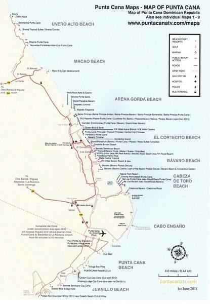 Punta Cana Resorts Map