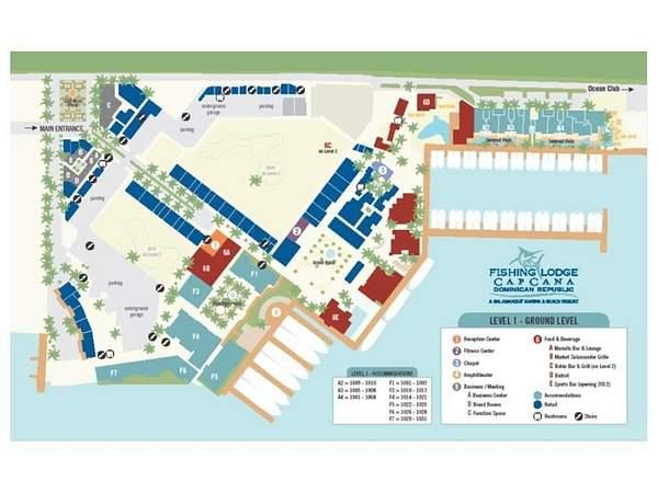 The Fishing Lodge Resort Map - Level 1