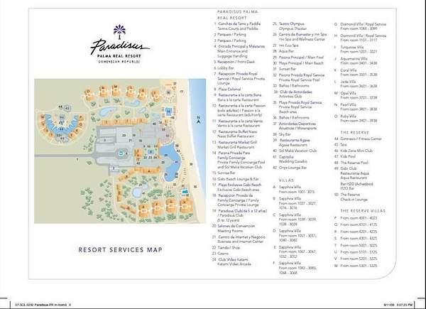 Paradisus Palma Real Resort Map