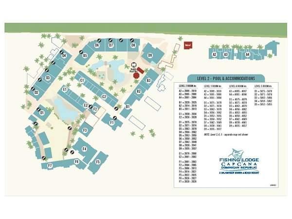 The Fishing Lodge Resort Map - Level 2