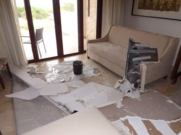 Water damage to original room