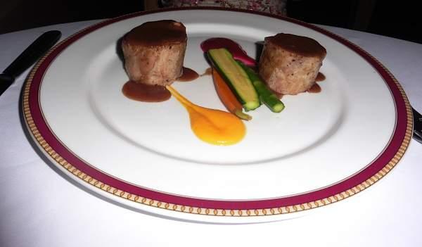 Pork with assorted fruit glaze