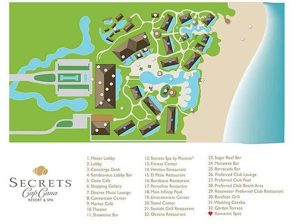Secrets Cap Cana Resort Map