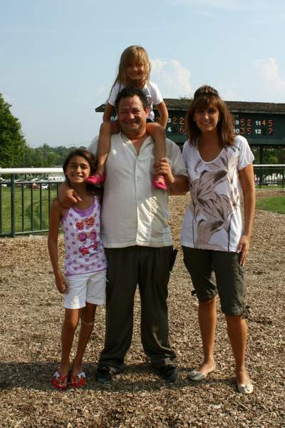 Trainer Carlos Guerrero and family