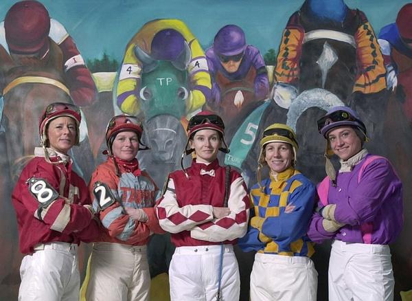 Various Female Jockeys Set # 1 by Chris Forbes