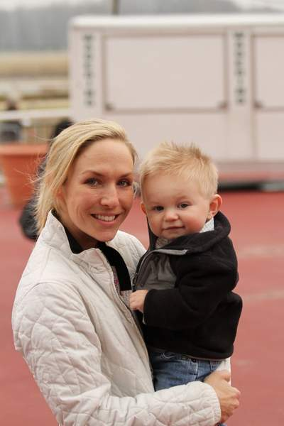 ex-jockey Jennifer Jennings and her son