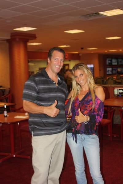 me and ex jockey diane alvarado