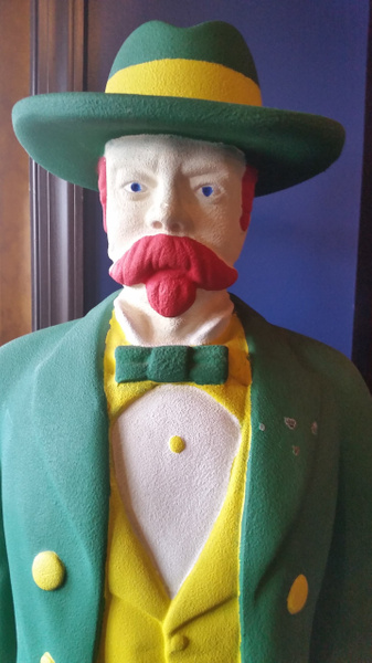 The iconic leprechaun at O'Rourke's