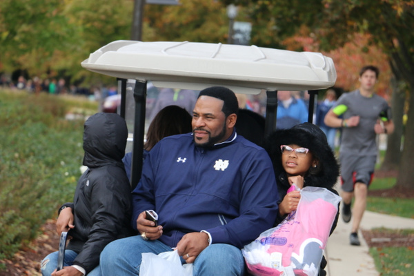 Jerome Bettis, 'The Bus'. ND and Steeler legend, Pro Football Hall of Fame, Super Bowl Champ.