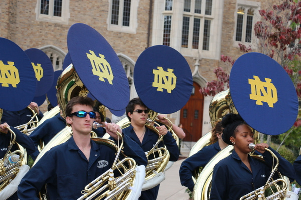 The Band of the Fighting Irish, America's first University Marching band