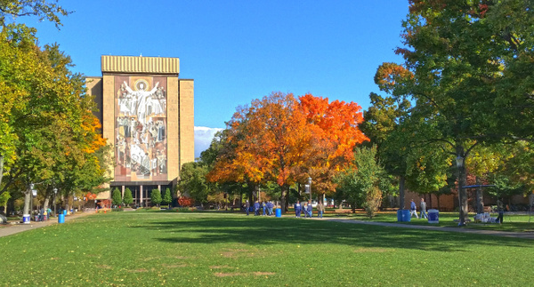 Hesburgh Library a/k/a Touchdown Jesus