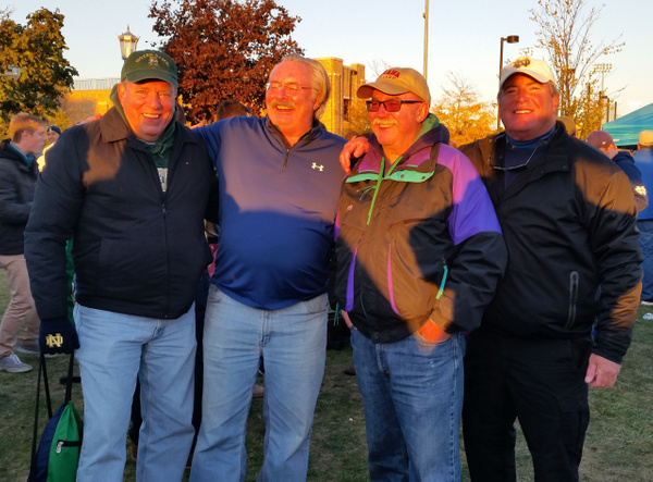 Class of '74 at Mark's and Sig's tailgate.