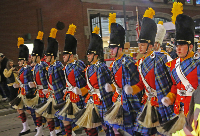 The Irish Guard on the march into Fenway
