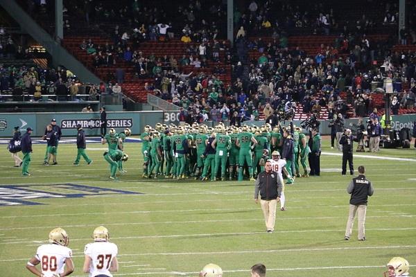 The Irish in their Shamrock Series uniforms