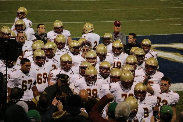 The Eagles head into the visitors locker room