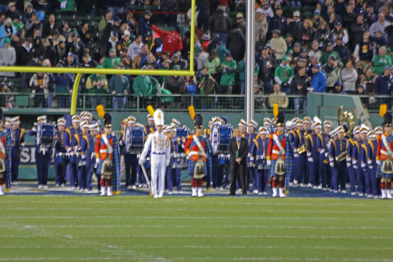 The Band of the Fighting Irish on Fenway's hallowed turf