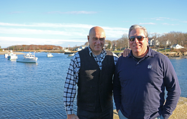 Mr B and Gary at Cohasset Harbor