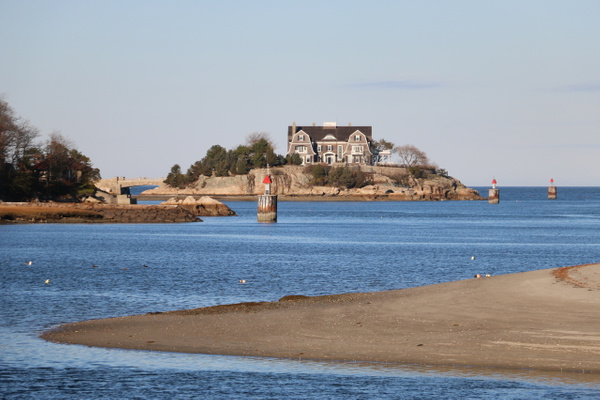 Mansion overlooking Cohasset Harbor