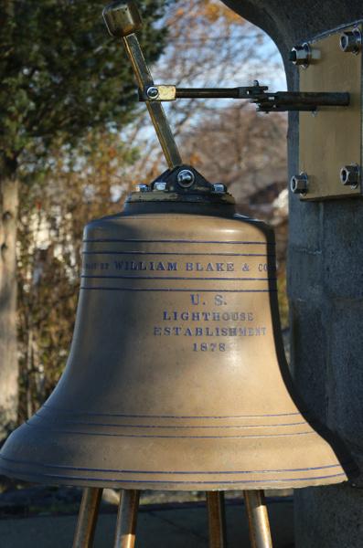 Cast Bell from 1878 used by the US Lighthouse Service, Cohasset