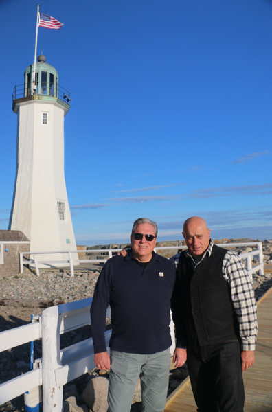 The big men at Scituate Light