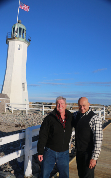 Mr T and Mr B at Scituate Light