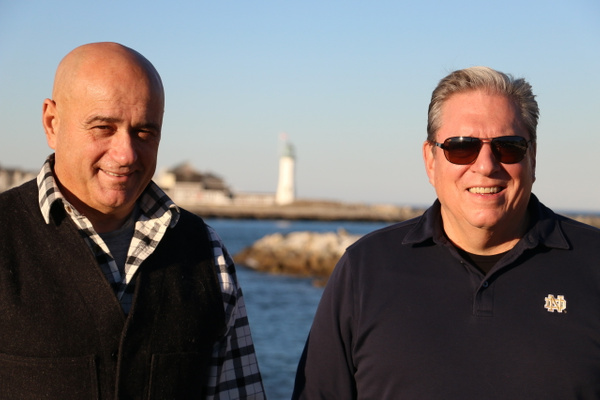 Bruce and Gary at Scituate Harbor
