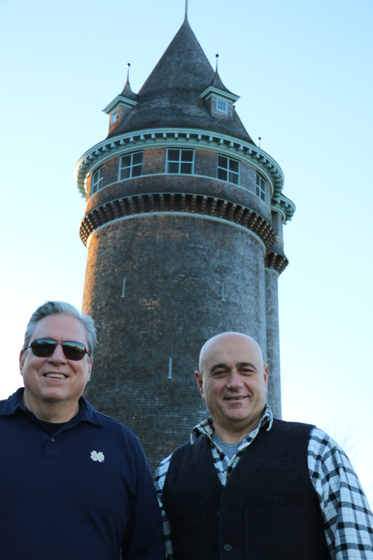 Gary and Bruce at Lawson Tower, Scituate