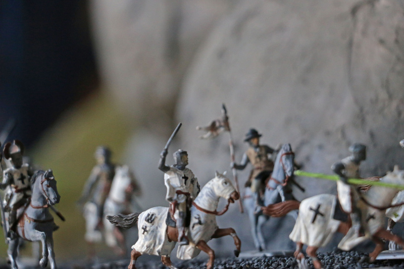 The Teutonic Knights on the attack