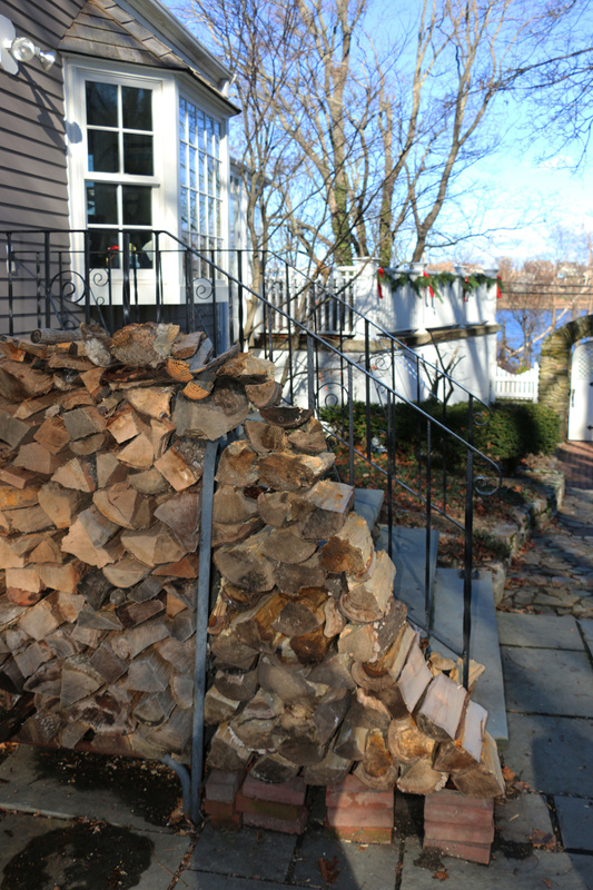 Firewood re-stocked for a Christmas Eve blaze