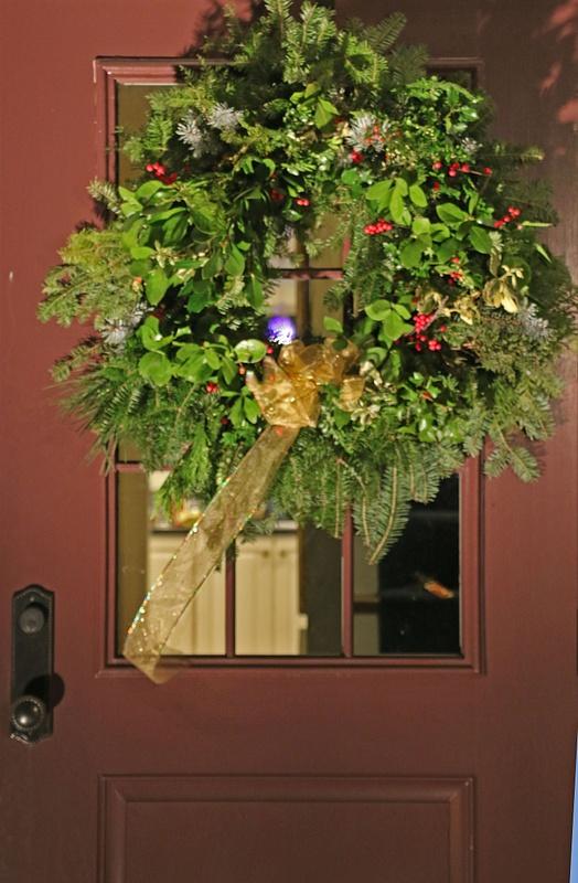 Wreath hand made by Georgia