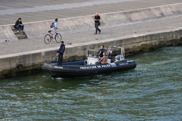 The Paris Marine Police patrolling the Seine