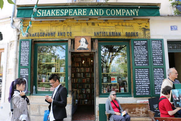 Shakespeare and Company, in the Latin Quarter