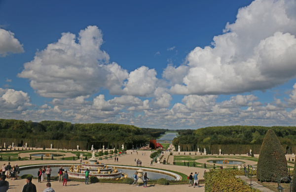 The Gardens of Versailles-The Grand Canal stretches to the horizon