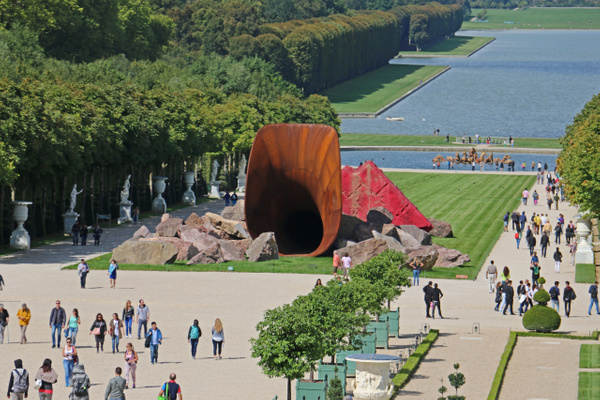 The Palace of Versailles-Indian-British artist Anish Kapoor's 'Dirty Corner' sculture