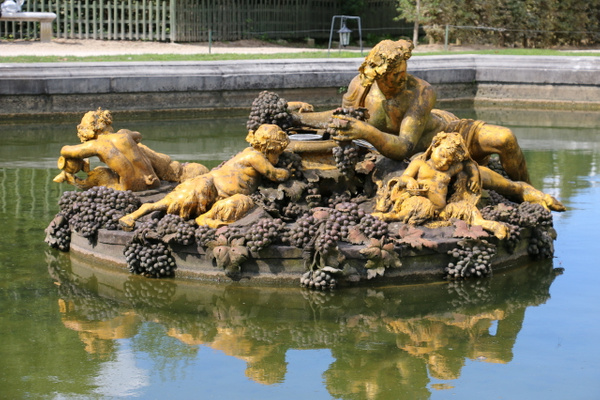 The Gardens of Versailles-Bacchus Fountain