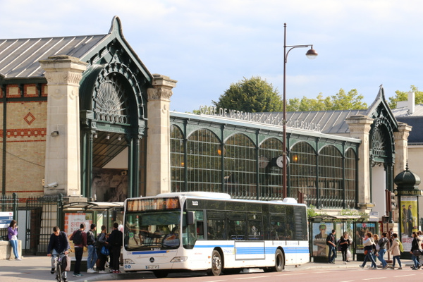 Versailles RER Station where we caught a train back to Paris