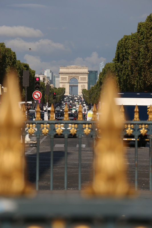 The Avenue des Champs-Élysées and Arc de Triomphe from Place de la Concorde