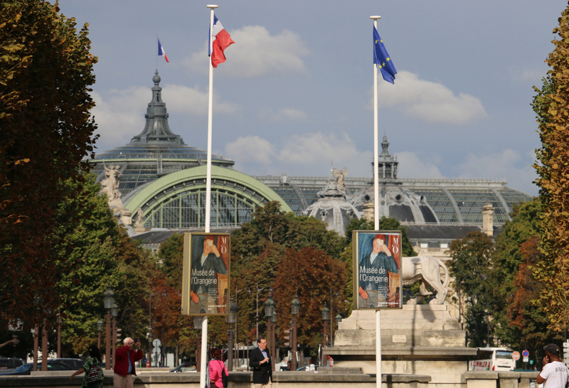 View of Le Grande Palais from Place de la Concorde