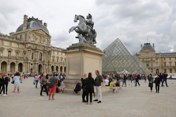 Central Courtyard, The Louvre.