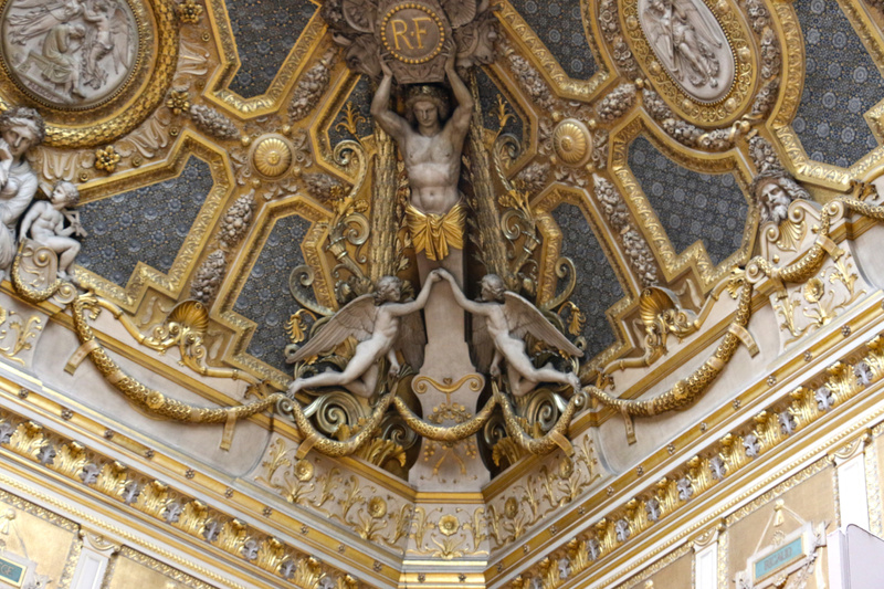 Ceiling detail-The Louvre