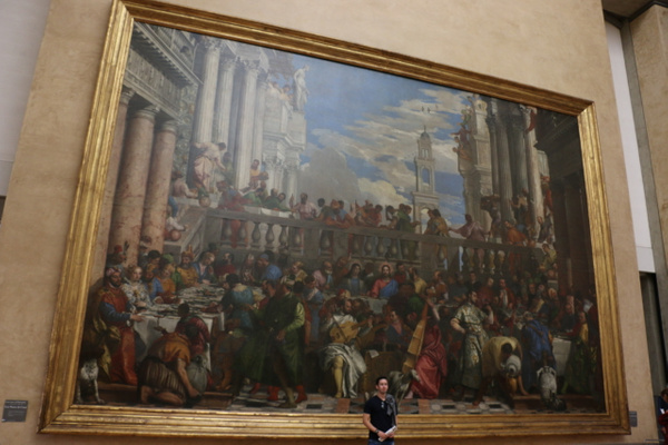The largest painting in the Louvre's collection-The Wedding at Cana by Paolo Veronese (1563)