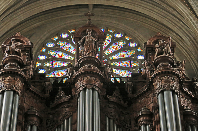 Church of St Eustace-Organ pipe detail