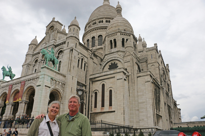 Georgia and Tom at Sacré-Cœur Basilica