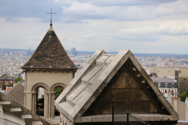 View of St Pierre de Montmarte Monastery from Sacré-Cœur's dome