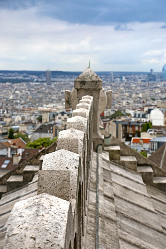 Climbing the tower of Sacré-Cœur Basilica