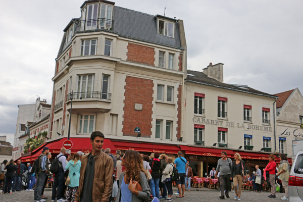 A busy square in Montmartre
