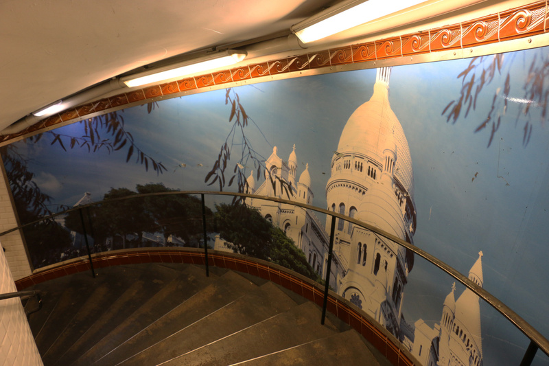 Abbesses Metro Station-The deepest station in the Paris Metro