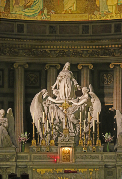 Interior of La Madeleine-Statue of St Mary Magdalene