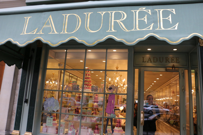 World famous Ladurée bakery and sweet shop, celebrated for its macarons