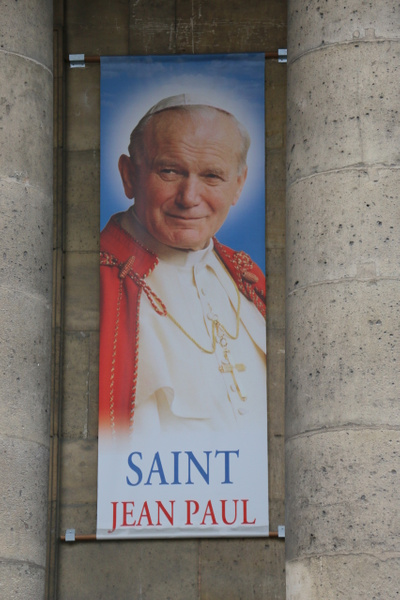 The Polish parishioners of Notre-Dame-de-l'Assomption are proud of their sainted countryman